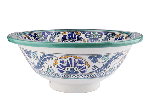 Moroccan SISHIA Hand-Painted Bathroom Sink - Unique Sinks