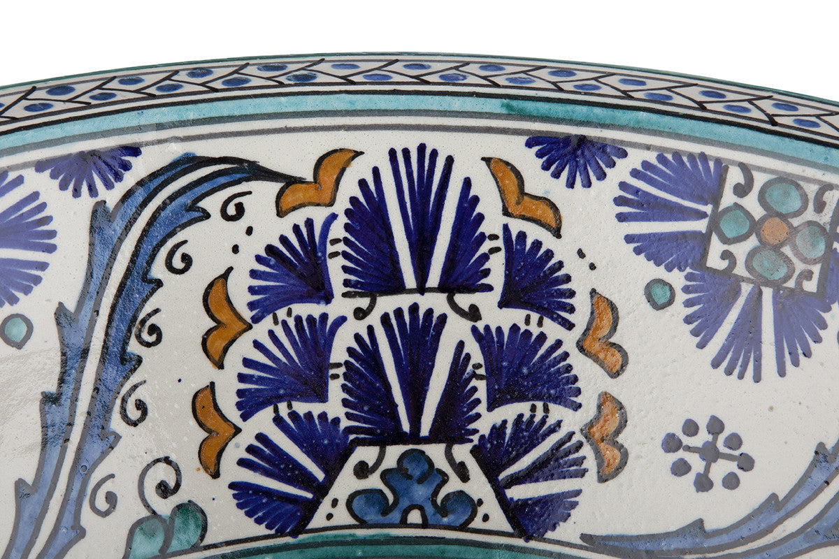 Moroccan SISHIA Hand-Painted Bathroom Sink