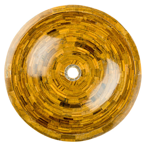 Tiger's Eye vessel  BATHROOM SINK - Unique Sinks