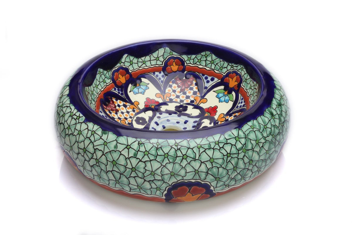 Juanetta Round Vessel Hand-painted Bathroom Basin - Unique Sinks