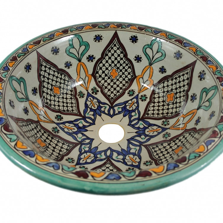 Moroccan KAMA Hand-Painted  BATHROOM SINK - Unique Sinks