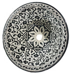Moroccan SORAYA Hand-Painted Bathroom Sink