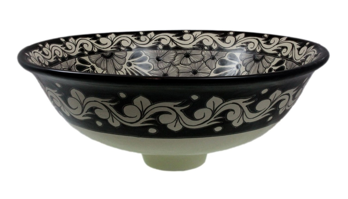 Serena Tall Vessel Hand-painted Bathroom Basin - Unique Sinks
