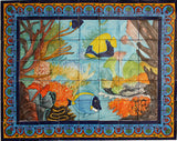Tile Mural Coral Reef. Clay Talavera Tile Mural - Unique Sinks