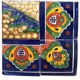 Tile Mural Volcano. Clay Talavera Tile Mural - Unique Sinks