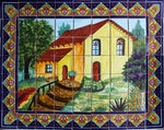 Tile Mural La Casita. Clay Talavera Tile Mural - Unique Sinks