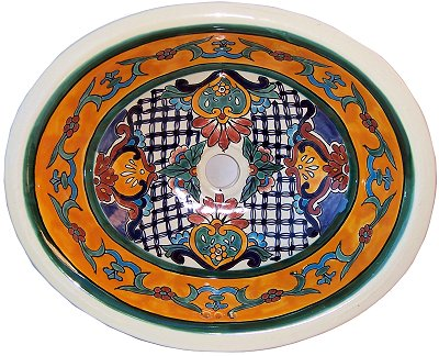 Mexican Vasco Ceramic Talavera Sink - Drop-in Basin - Unique Sinks