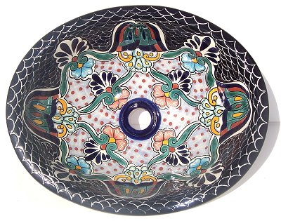Mexican Turtle Ceramic Talavera Sink- Drop-in Basin - Unique Sinks