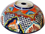 Mexican Small Azalea Ceramic Talavera Sink - Vessel Basin - Unique Sinks