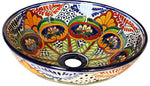 Mexican Small Greca Ceramic Talavera Sink - Vessel Basin - Unique Sinks
