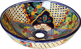 Mexican Small Janitzio  Ceramic Talavera Sink - Vessel Basin - Unique Sinks