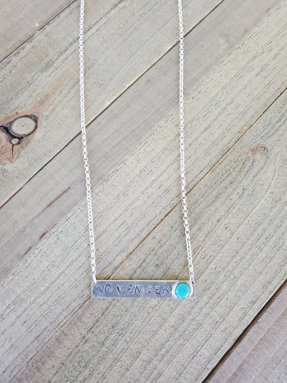Personalized Turquoise bar
