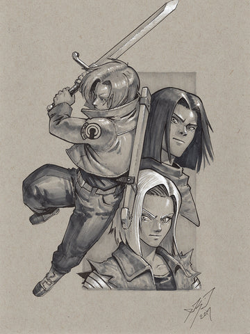 Future Trunks and the Androids