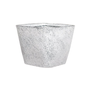 Square Tapered Eco Planter- White
