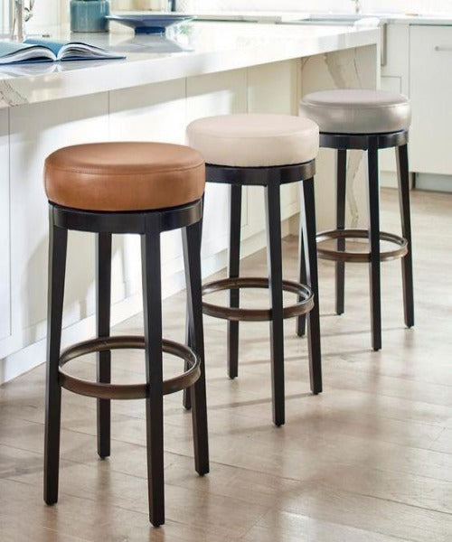 Modern Look High Bar Stool with Cushioned Base