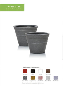 Round Eco Planter- Grey