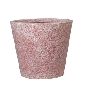 Round Eco Planter Rustic Finish Light Pink