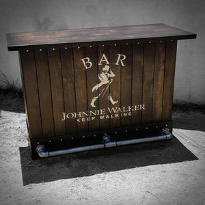Vintage Look Wooden Bar Counter