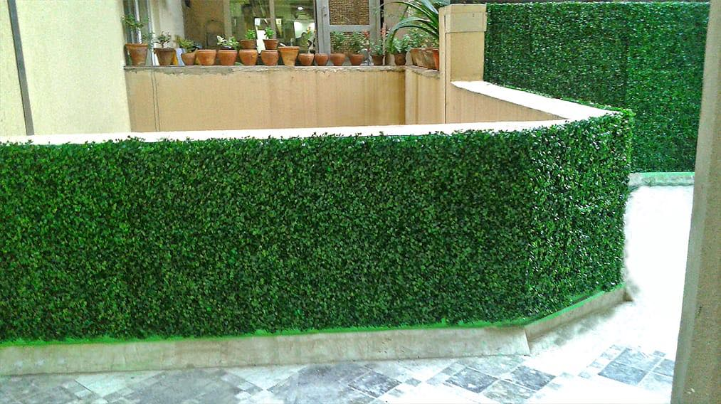Artificial Vertical Garden With Green Panels (Basic)