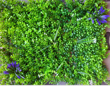 Load image into Gallery viewer, Artificial Plant Panels With Small Leaves & few Bushes with Flowers - 50 CM x 50 CM