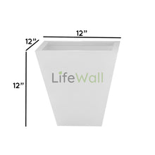 Load image into Gallery viewer, Trapezoid FRP Planter WHITE