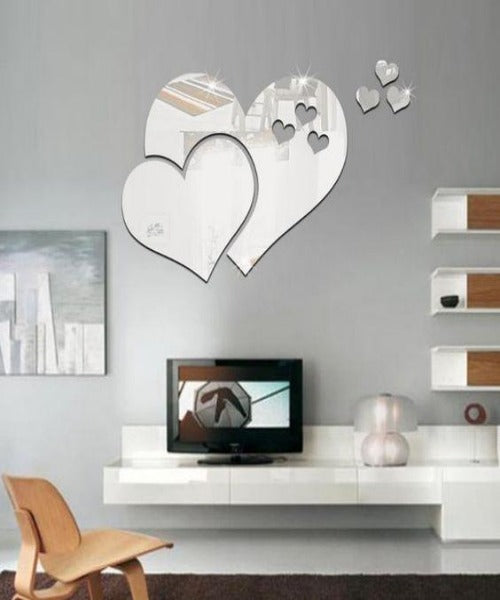 Minimalist Heart Shaped Acyrlic Wall Mirror