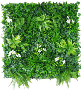 Artificial Plant Wall Cover With Small Leaves & Bushes (In Sqft)