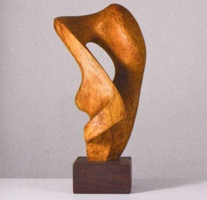 Modern Look Abstract Wooden Sculpture