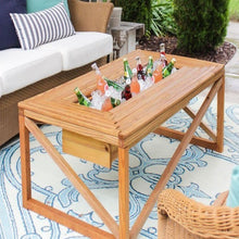 Load image into Gallery viewer, Modern Look Wooden Table with Beverage/Drinks Cooler in Center