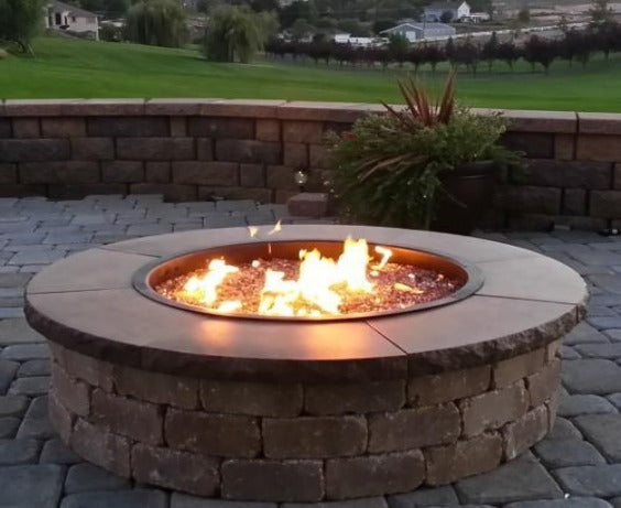 Circular Stone Cladded  Fire Pit