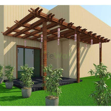 Load image into Gallery viewer, Canopy Entrance Pinewood Pergola - 100% Water And Termite Proof (In Sqft)