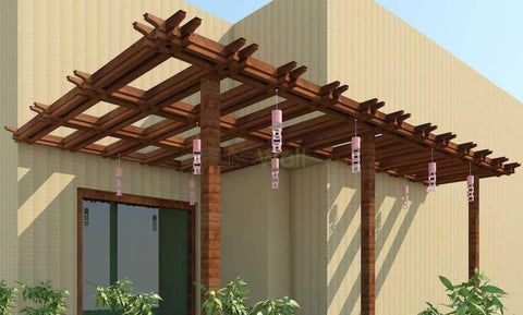 Canopy Entrance Pinewood Pergola - 100% Water And Termite Proof (In Sqft)