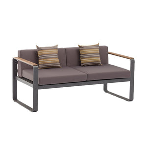 Basic Aluminum Frame Outdoor Sofa with Comfy Cushions