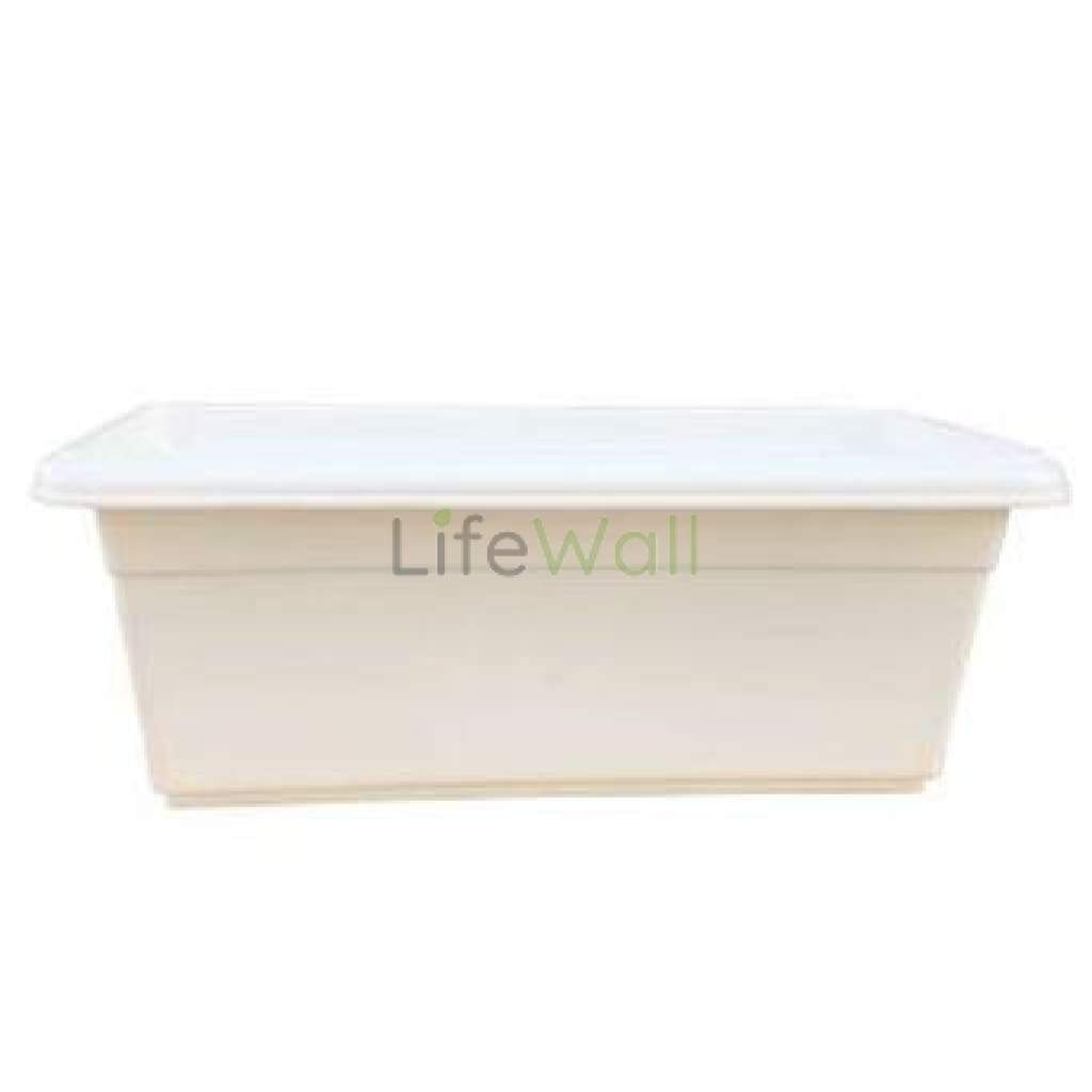 Rectangular Pvc Planter (White)