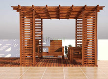 Load image into Gallery viewer, Self Supporting Pinewood Pergola - 100% Water And Termite Proof (In Sqft)