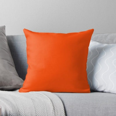 Pumpkin Orange Shade Cushion