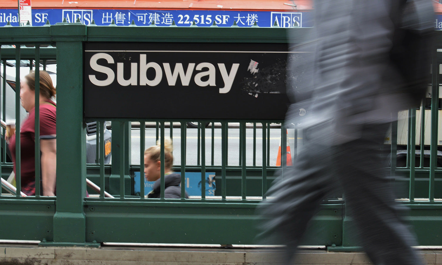 Subway sign in New York using Helvetica