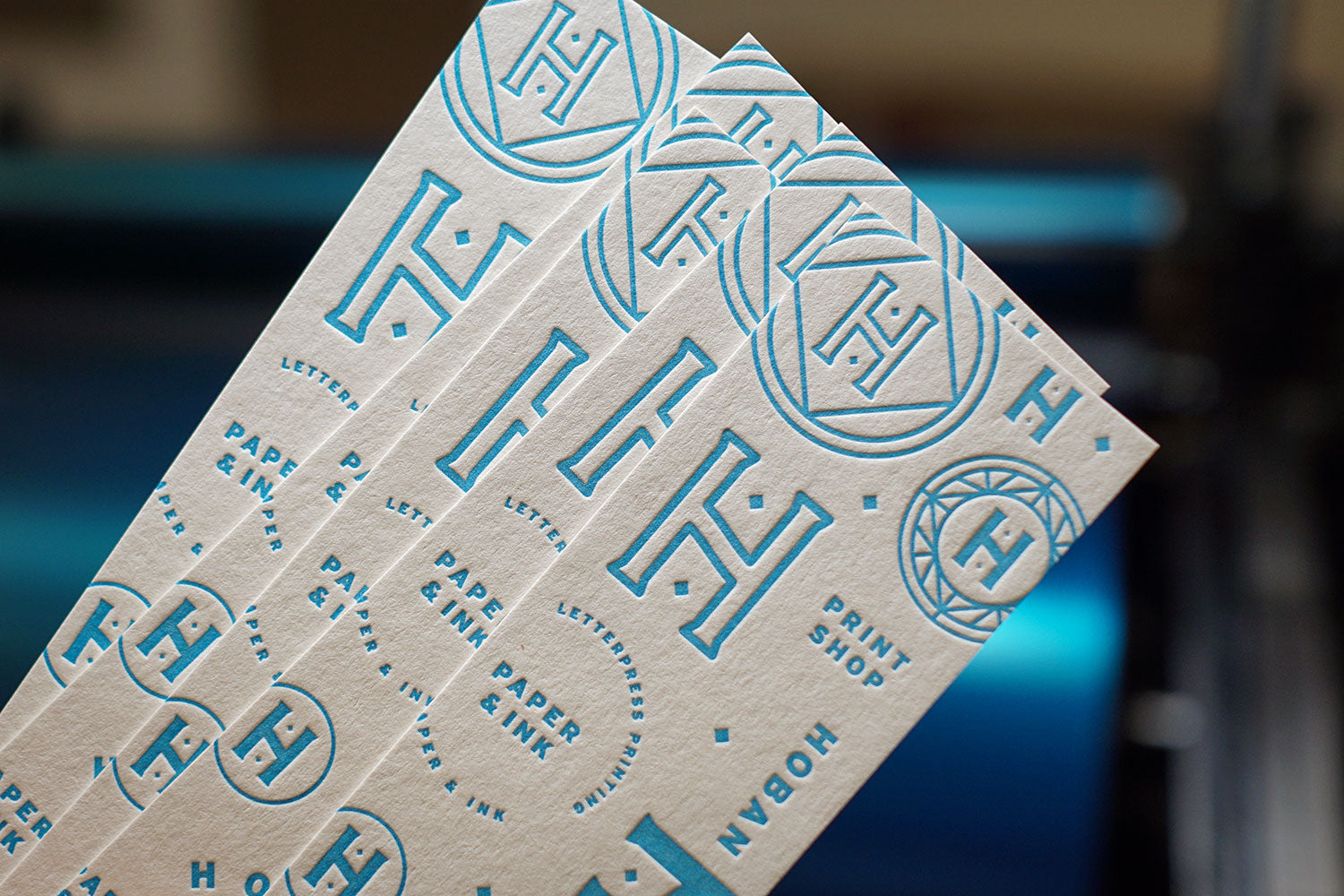 Bookmarks printed with photopolymer plates
