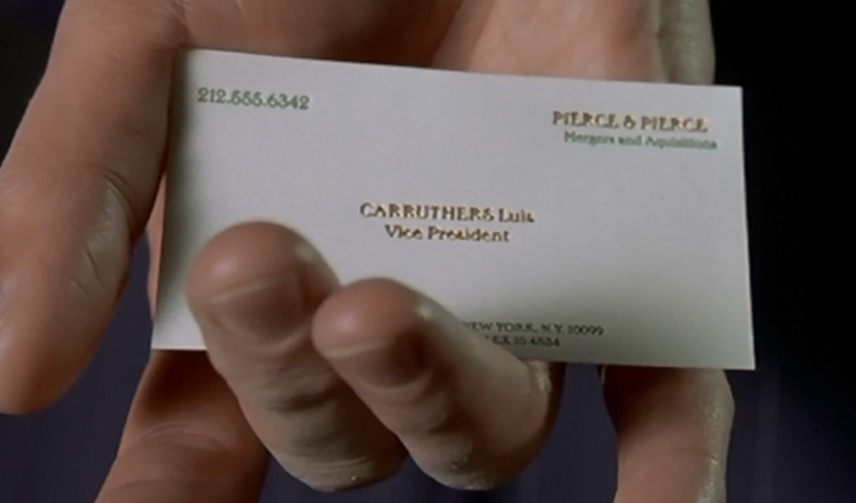 Luis Carruthers Business Card