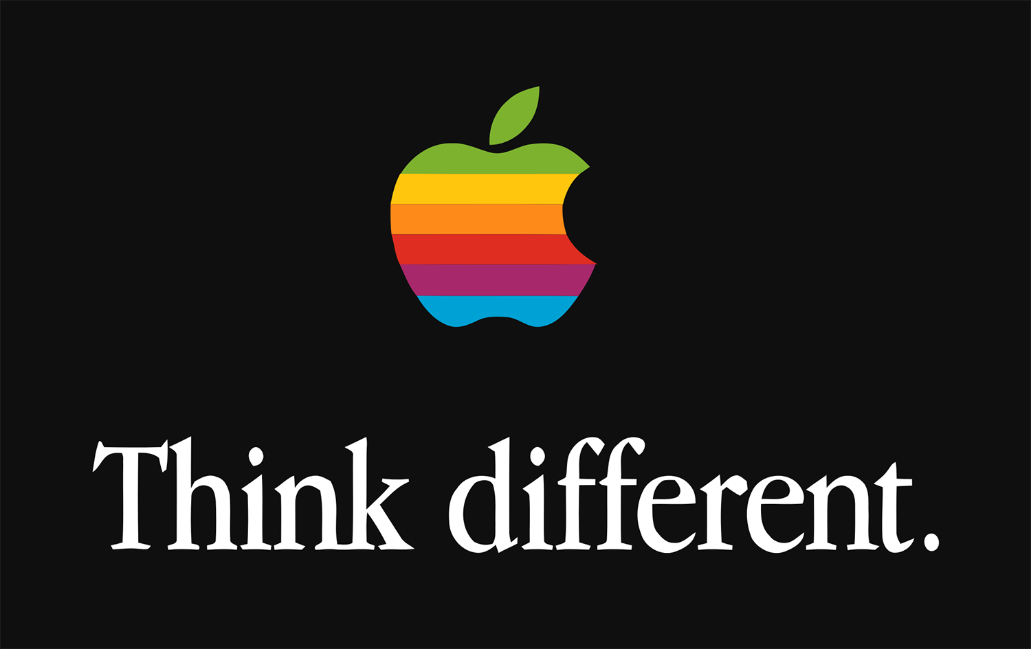 Apple's Think Different campaign featuring Garamond as the typeface