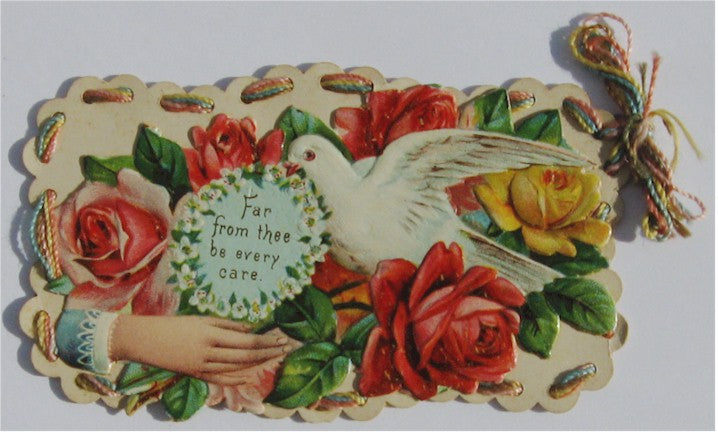 A Fancy Victorian Card Featuring Full Color Romantic Images