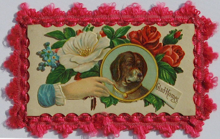 Brightly Colored Card with Standard Victorian Imagery