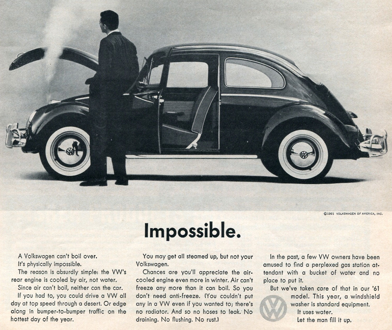 Volkswagen's use of Futura in their 1960s ads for the Beetle