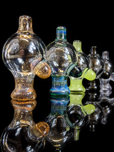 Clear and colored puffco peak bubble caps by @coteglass - Marys Heady Smoke Shop