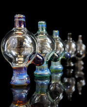 Load image into Gallery viewer, Clear and colored puffco peak bubble caps by @coteglass - Marys Heady Smoke Shop