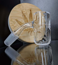 Load image into Gallery viewer, Pot Leaf Long Island Quartz banger - Marys Heady Smoke Shop