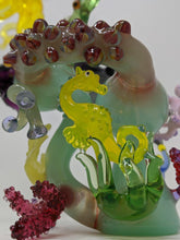 Load image into Gallery viewer, Yellow octo sea life recycler rig - Marys Heady Smoke Shop