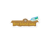 Custom Animal Crossing Town Name Stickers