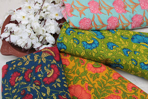 Handprinted Cotton & Rayon Fabrics