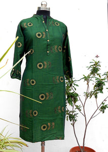 Anya Green straight southcotton kurti - STUDIO PEHEL